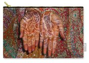 The Wonderfully Decorated Hands And Clothes Of An Indian Bride Carry-all Pouch