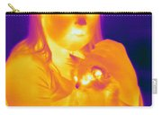 Thermogram Of A Girl And Cat Carry-all Pouch