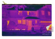 Thermogram Of A Home In Winter Carry-all Pouch