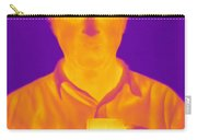 Thermogram Of A Man Carry-all Pouch