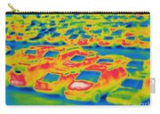 Thermogram Of A Parking Lot Carry-all Pouch