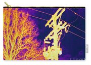 Thermogram Of Electrical Wires Carry-all Pouch by Ted Kinsman