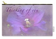 Thinking Of You Greeting Card - Rose Of Sharon Carry-all Pouch