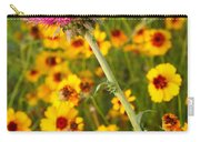 Thistle And Coreopsis 2am-110455 Carry-all Pouch