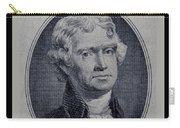 Thomas Jefferson 2 Dollar Bill Portrait Carry-all Pouch