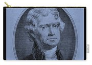 Thomas Jefferson In Cyan Carry-all Pouch