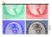 Thomas Jefferson In Negative Colors Carry-all Pouch