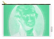 Thomas Jefferson In Negative Green Carry-all Pouch
