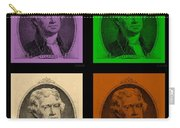 Thomas Jefferson In Quad Colors Carry-all Pouch