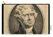 Thomas Jefferson In Sepia Carry-all Pouch