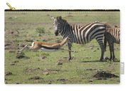 Thomson's Gazelle Running At Full Speed Carry-all Pouch