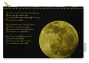 Thoreau's Moon Carry-all Pouch