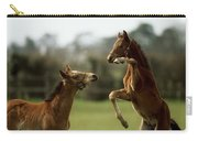 Thoroughbred Foals Playing Carry-all Pouch