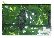 Three Barred Owls Carry-all Pouch