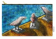 Three Birds Blue Carry-all Pouch