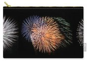 Three Bursts Of Fireworks Four July Two K Ten Carry-all Pouch