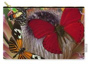 Three Butterflies On Protea Carry-all Pouch