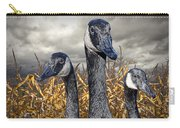 Three Canada Geese In An Autumn Cornfield Carry-all Pouch