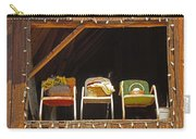 Three Chairs With A View Carry-all Pouch