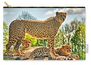 Three Cheetahs Carry-all Pouch