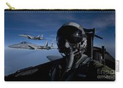 Three F-15 Eagles Fly High Carry-all Pouch
