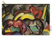 Three Horses Carry-all Pouch