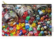 Three Jars Of Buttons Dice And Marbles Carry-all Pouch