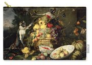 Three Monkeys Stealing Fruit Carry-all Pouch