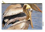 Three Pelicans On A Stump Carry-all Pouch