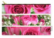 Three Pink Roses Landscape Carry-all Pouch