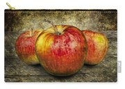 Three Red Apples Carry-all Pouch