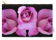 Three Roses Painterly Carry-all Pouch
