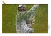 Three-toed Sloth Climbing Carry-all Pouch by Heiko Koehrer-Wagner