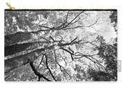 Three Trees Reach For The Sky Black And White Carry-all Pouch