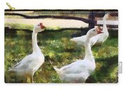 Three White Geese Carry-all Pouch