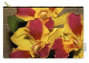 Three Yellow And Red Orchids Carry-all Pouch