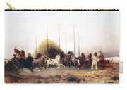 Threshing Wheat In New Mexico Carry-all Pouch by Thomas Moran