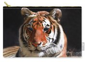 Tiger Blue Eyes Carry-all Pouch by Rebecca Margraf