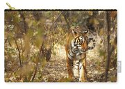 Tiger In The Undergrowth At Ranthambore Carry-all Pouch
