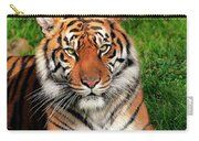Tiger Sitting In The Grass Carry-all Pouch