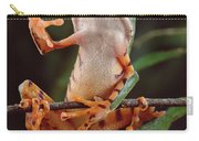 Tiger Striped Leaf Frog Waving Carry-all Pouch