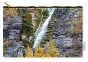Timpanogos Waterfall In The Fall - Utah Carry-all Pouch