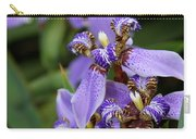 Tiny Purple Iris Carry-all Pouch