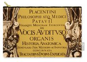 Title Page, Giulio Casserios Anatomy Carry-all Pouch by Science Source