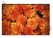 Toasted Orange Chrysanthemums Carry-all Pouch