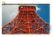 Tokyo Tower Face Cloudy Sky Carry-all Pouch