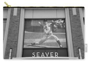 Tom Seaver 41 In Black And White Carry-all Pouch