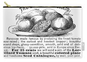 Tomato Advertisement, 1889 Carry-all Pouch