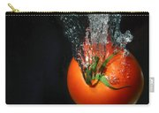 Tomato Falling Into Water Carry-all Pouch