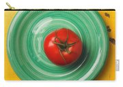 Tomato On Green Plate Carry-all Pouch